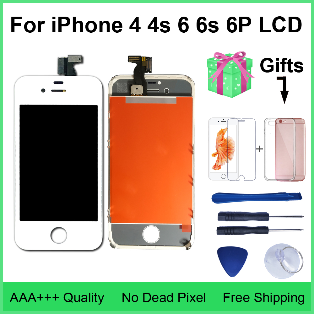 AAA Quality LCD For IPhone 4 4s Replacement Screen Display Digitizer Touch Screen Assembly For IPhone 6 6s 6PlusLCD Screen