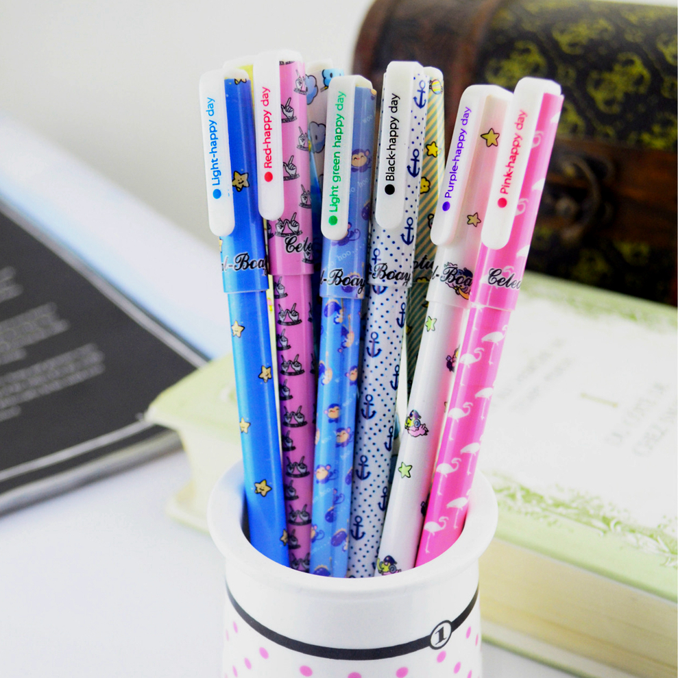 10 pcs/lot New Cute Cartoon Colorful Gel Pen Set Kawaii Korean Stationery Creative Gift School Supplies 10 pcs lot new cute cartoon colorful gel pen set kawaii korean stationery creative gift school supplies