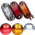 2pcs Red 12V Trailer cars led side marker light indicator clearance lamp 24v truck side lights Car Styling for truck Trailer