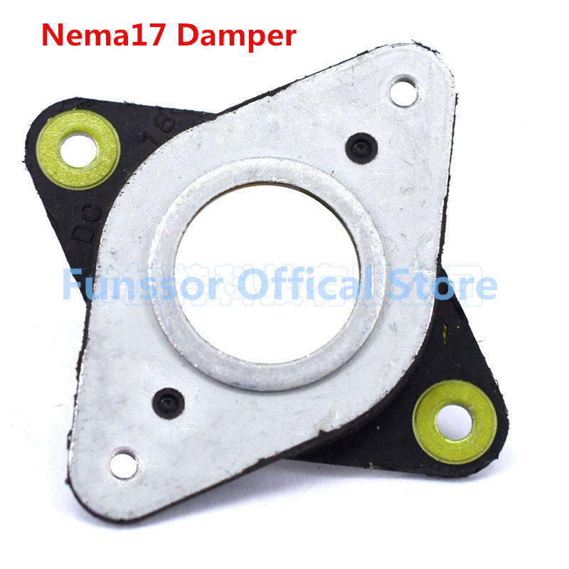 Funssor 12pcs/lot   NEMA 17 Steel & Rubber Stepper Motor Vibration Dampers Imported genuine  42 stepper motor shock absorber Звуковая карта