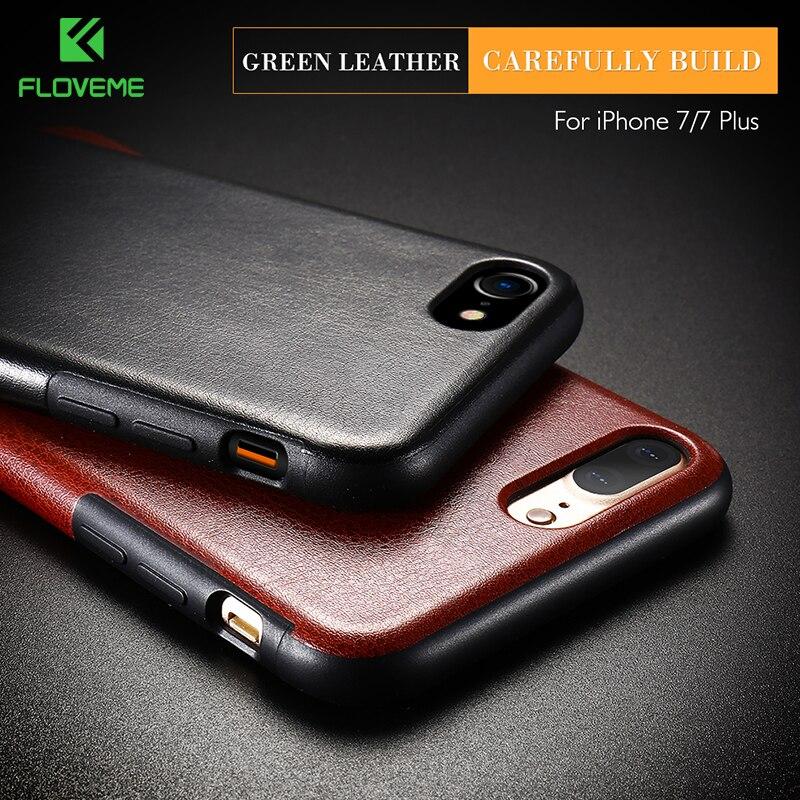 FLOVEME Retro Leather Case for iPhone 7 7 Plus Vintage Mobile Phone Bag Case for iPhone 6 6s Plus 7 Plus Coque Accessories PU