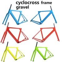 2018 Post крепление Aero дороге или горный велосипед Frame S/M/L Размер велокросс рамка дисковый велосипед углерода рама с антигравийным покрытием QR и