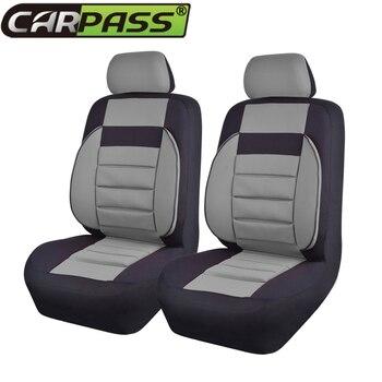 Car-pass Mesh Fabric  Composite Sponge Car Seat Cover Set Universal Fit Most Vehicles Seat Covers Car Accessories
