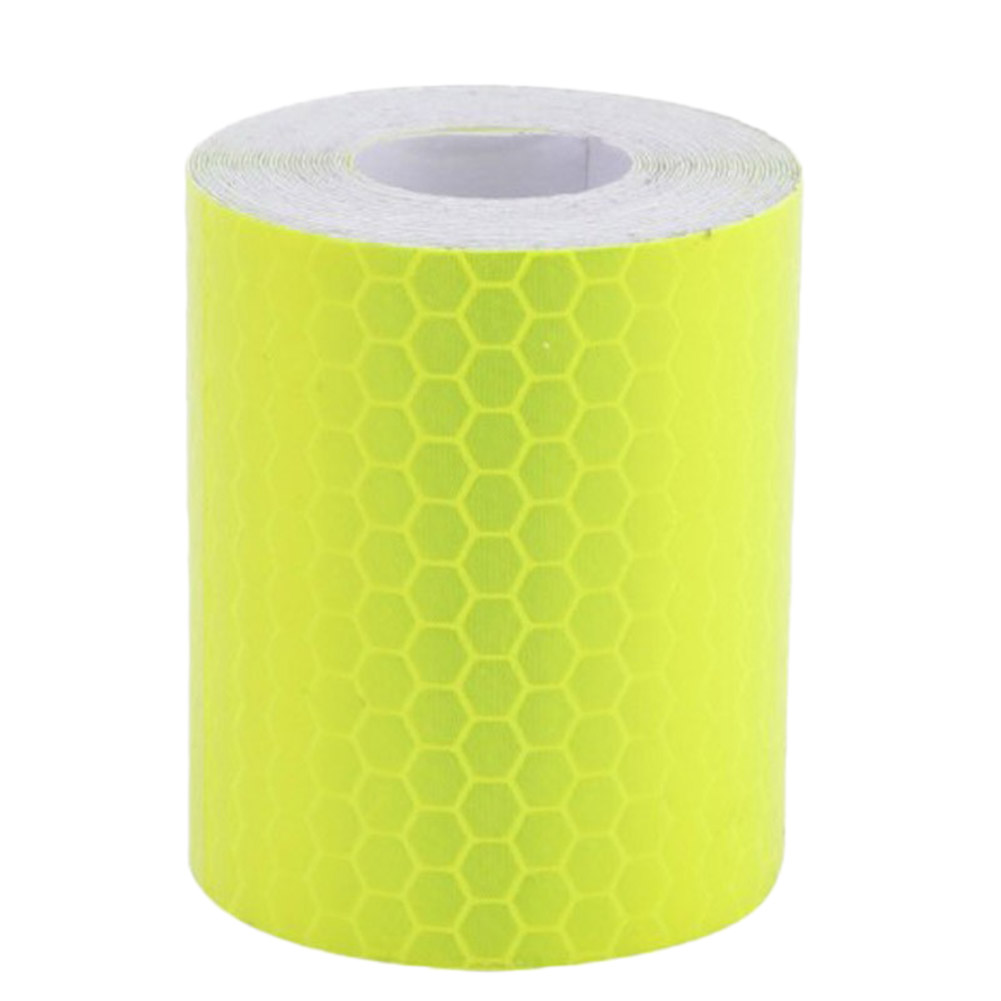High Quality 5cm*3m Car Reflective Tape Car Stickers Car Mouldings For Automobiles Truck Safe Material Safety Warning Tape