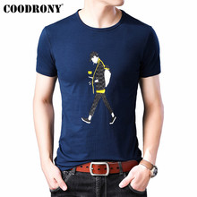 COODRONY T Shirt Men Clothes Streetwear Fashion O-Neck Tshirt Summer Cool Short Sleeve T-Shirt Cotton Tee Homme S95138