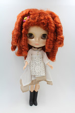 Blygirl Doll Chocolatehair Blyth body Doll Fashion can change makeup