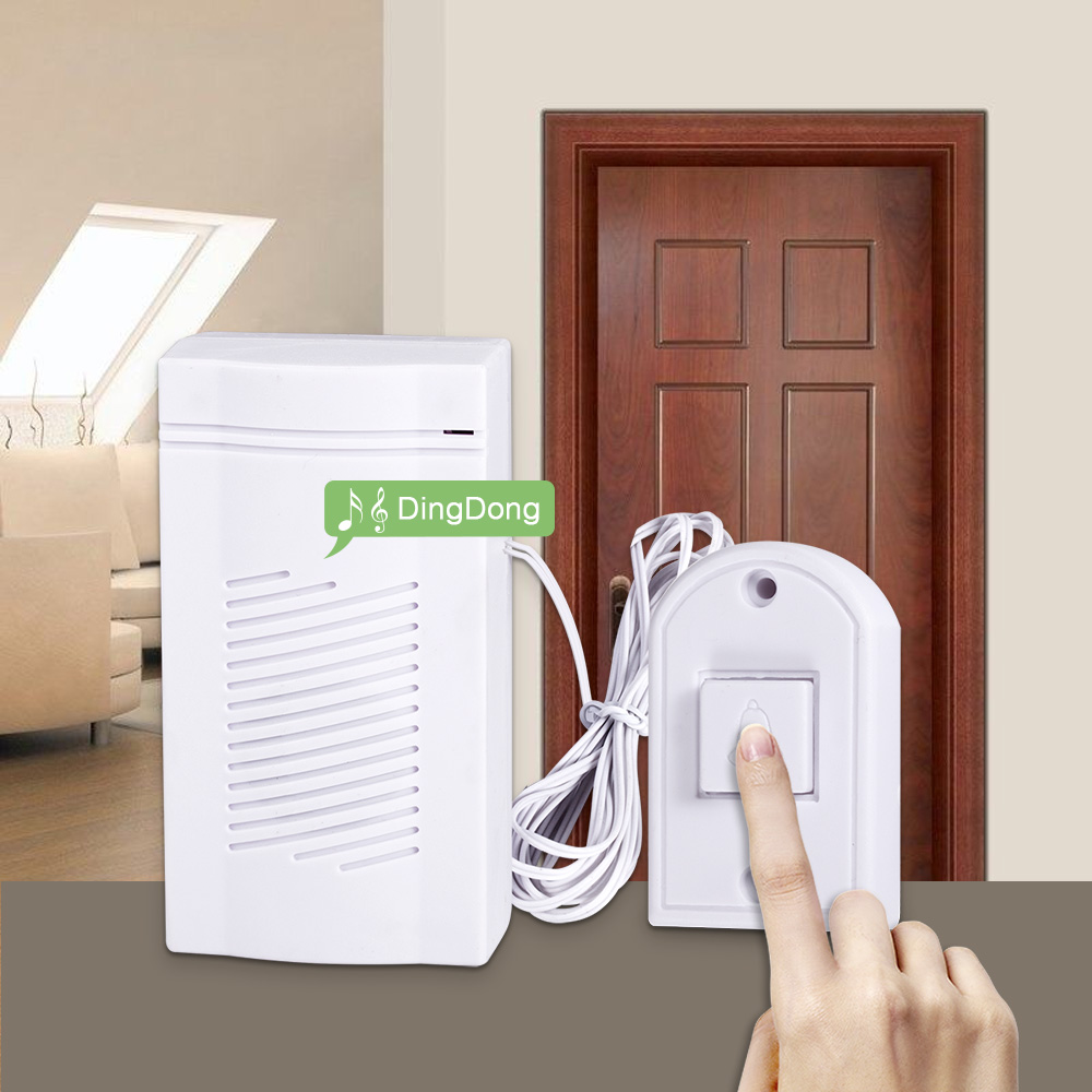 FUERS Wired Guest Welcome Doorbell High Quality Energy-saving Door Bell Simple Generous Home Store Security Doorbell Button