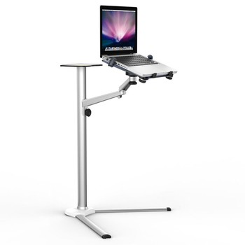 """3in1 UP-8 Aluminum Alloy 7-13"""" Tablet PC+ 3.5-6"""" Smartphone Holder +10-15.6"""" Laptop Floor Stand Rotary Swivel with Mouse Tray"""