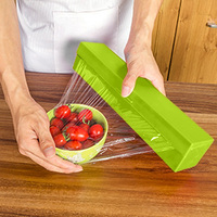ASLT Hot Selling Plastic Food Wrap Dispenser Foil Wax Paper Cutter New Arrival Free Shipping
