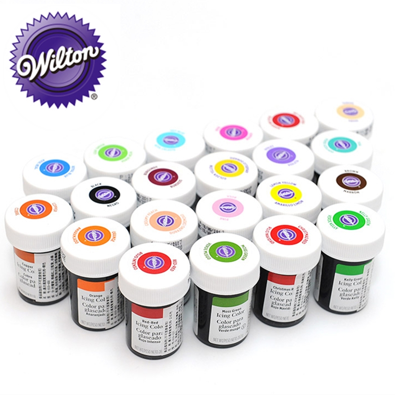 Wilton Food Coloring Icing Colors, Gel-based, 1 Piece 1 oz. Edible Color  Pigment for Baking Cake Pastry Fondant Macaron Cream