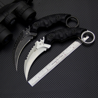 2 Options Rescue Strider Knives Cs Go Karambit Knife D2 Blade G10 Handle Survival Straight Knife Outdoor Camping EDC Tools