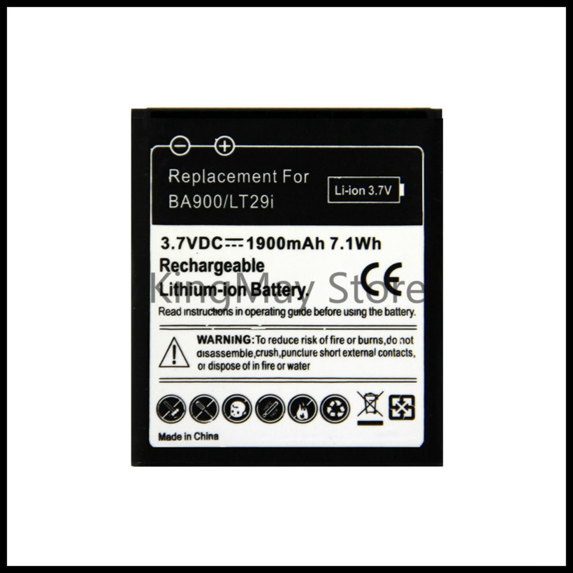 For Sony BA900 BATTERY c1905 for Sony Ericsson Xperia TX LT29i S36h C2105 E1 J L M C2104 C1904 C1905 ST26i BATTERY ba900