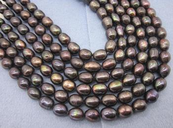 """100"""" 10X11 MM AAA Black brown PEARL NECKLACE YELLOW CLASP"""
