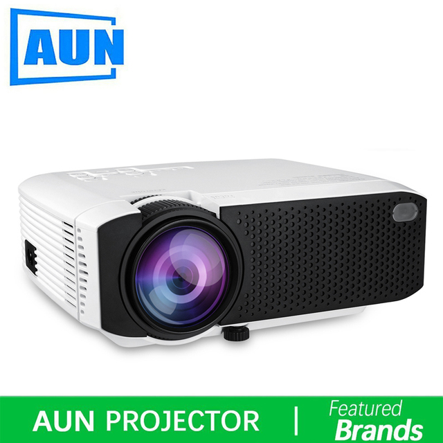 Cheap Brand AUN E400A LED Portable Mini Projector,Android 7.1 WiFi Bluetooth,Home Theater,USB,Support 1080P Movie Beamer