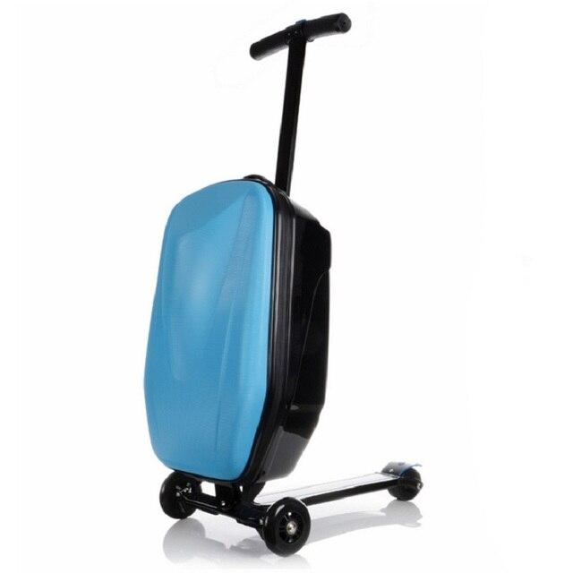 100% PC мода 21 дюйм(ов) студенты скутер чемодан мальчик прохладно тележки чехол 3D экструзионная деловой поездки багаж ребенка a01-интернат окно