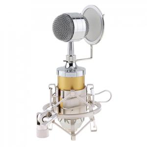 Image 5 - BM 8000 студии звукозаписи Запись конденсаторный микрофон с 3,5 мм разъем стенд держатель и позолоченный большой диафрагмой головка