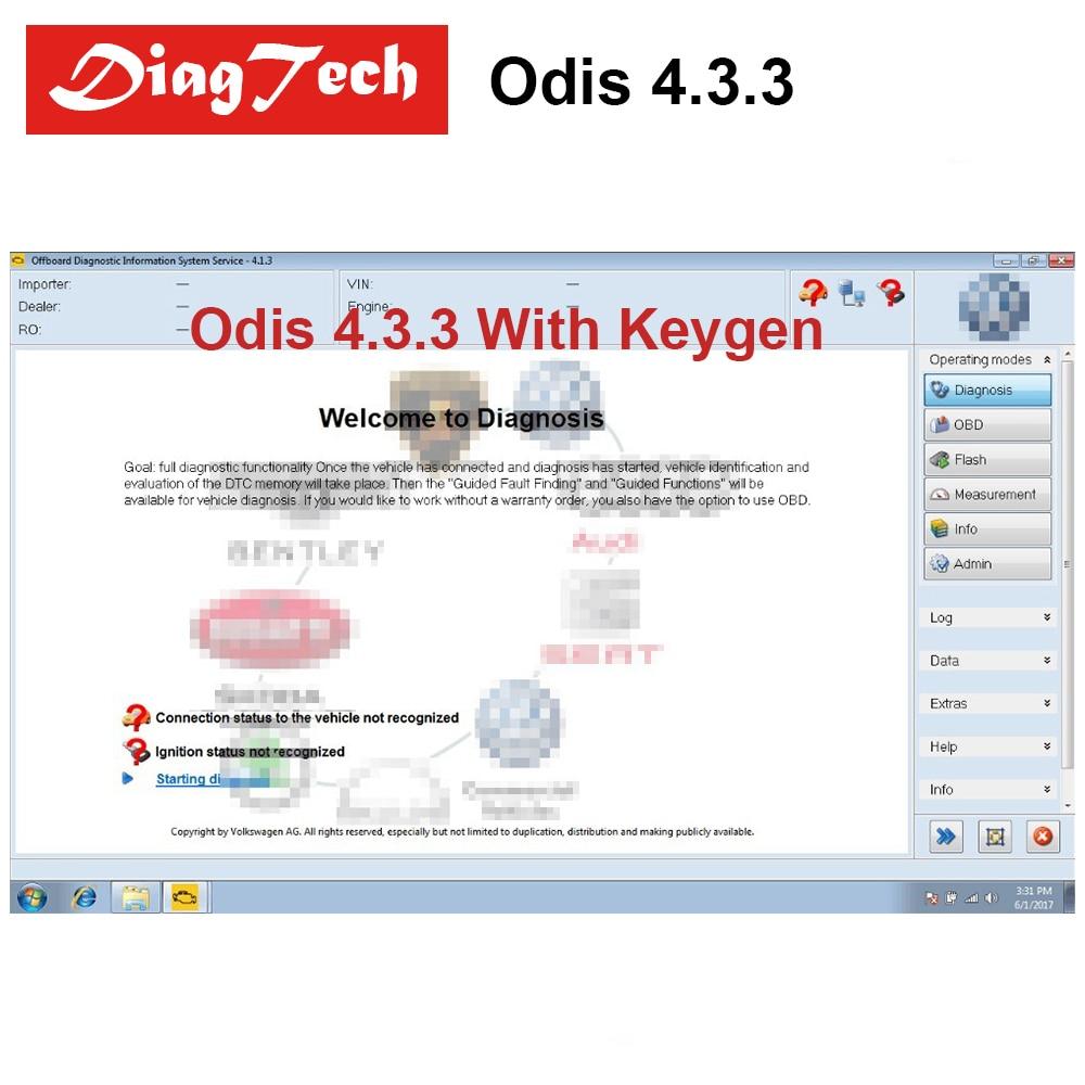 Dernière ODIS 4.3.3 Avec Keygen Pour VAG 9 Marques Odis VAS 5054A Odis V4.3.3 Support multi-langues VAS5054A Stockées dans 16 gb