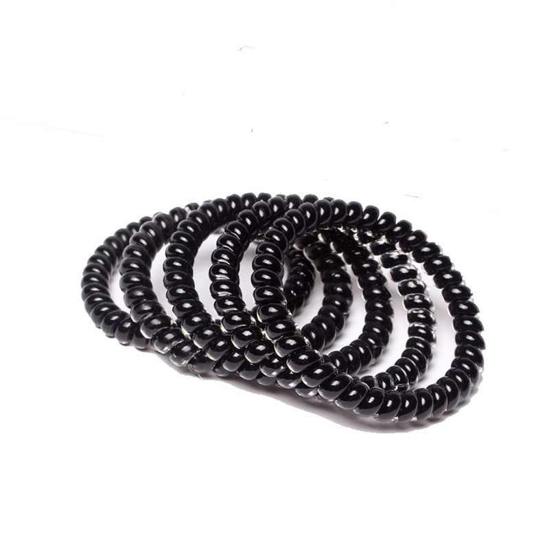 10 sztuk scrunchy przewód telefoniczny przewód telefoniczny elastyczny silikon opaski gumowe dla kobiet i dziewczynek gumowe akcesoria do włosów sprężyny