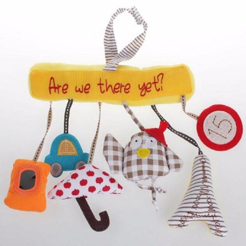 Baby Musical Wieg Mobiles Speelgoed Opknoping Cartoon Speelgoed Wandelwagen Vogel Pluche Pop Muziek Opknoping Bed Bel Met Geluid Papper en Spiegel