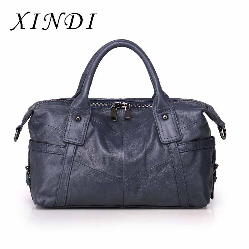 Bag ladies genuine leather Shoulder Bags Female sac a main Messenger Bags Luxury Handbag Women Bags Designer 2018 Casual Tote women bag handbag tote over shoulder crossbody messenger leather female red bucket lock big casual ladies luxury designer bags