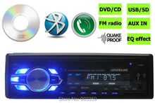 New arrival Car CD Receiver Car Stereo DVD Player bulit in bluetooth hands free phone1 Din