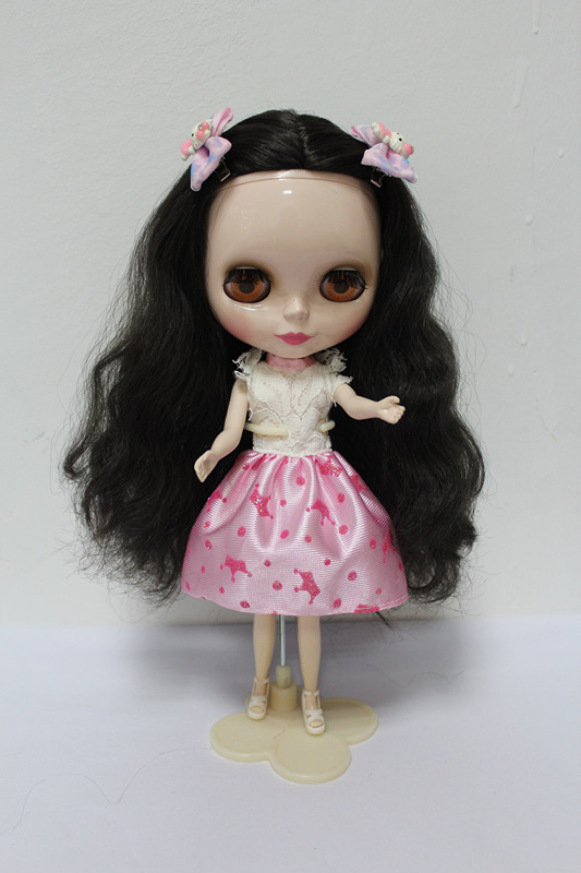 Free Shipping big discount RBL-154DIY Nude Blyth doll birthday gift for girl 4colour big eyes dolls with beautiful Hair cute toy big beautiful eyes косметический набор косметический набор big beautiful eyes