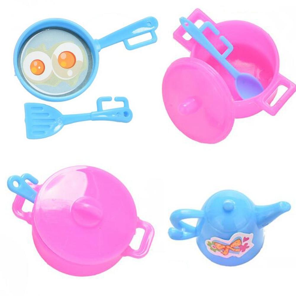 Nk 7 Item Set Anak Bermain Rumah Mainan Aksesoris Boneka Buatan Tangan Boneka Plastik Dapur Memasak Untuk Barbie Boneka Hadiah Kitchenware Plastic Kitchenware Sethouse And Lot Sale Aliexpress