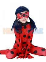 Miraculous Ladybug Girls Halloween Tight Cosplay Costume