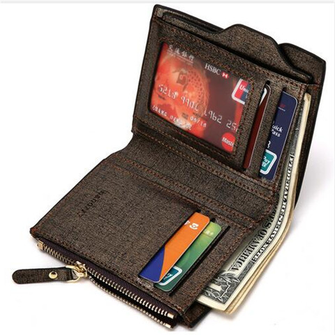2019 Men Wallet High Quality PU Leather Card Holder Wallet Male Leather Coin Purse With Zipper Short Bifold Wallets for men NEW Islamabad