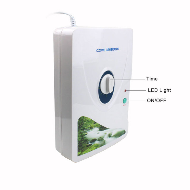 New 1Pcs 600mg/h Ozone Generator Ozonator Wheel Timer Air Purifiers Oil Vegetable Meat Fresh Purify Air Water ozone 5