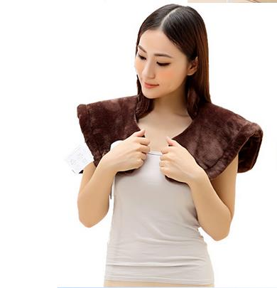 Original far infrared electric heating shoulder vest heated shawl warm winter hot compress neck cervical pad old men and women quality physiotherapy electric heating vest back support shoulder pad vest heated shawl suitable for back pain relief