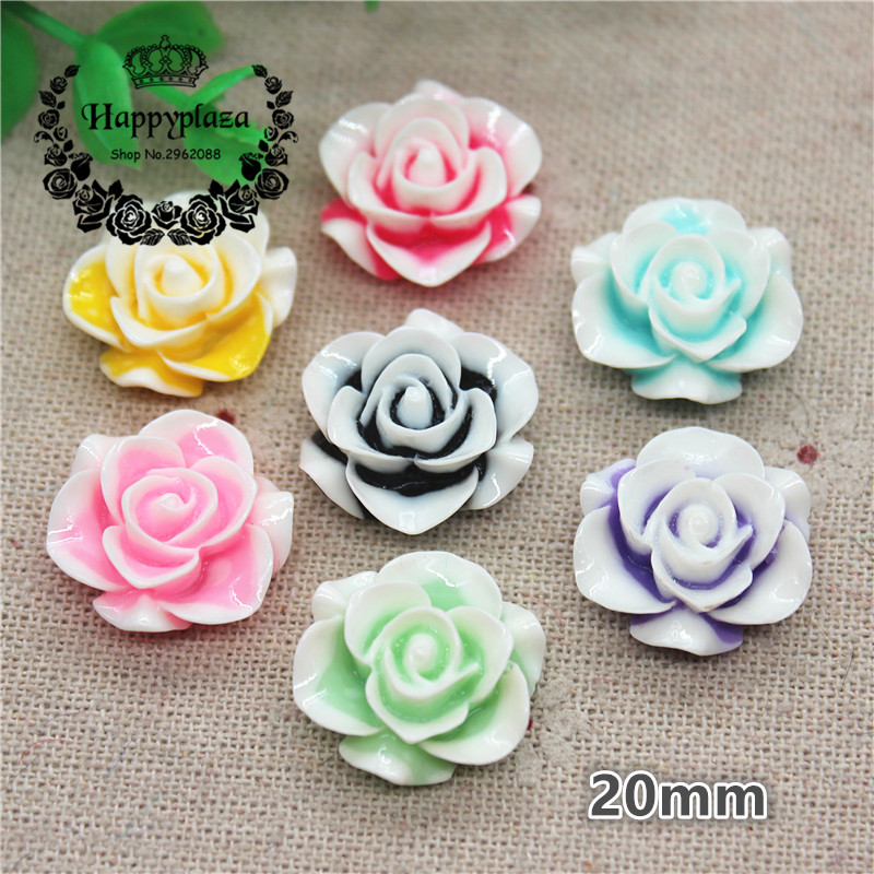 30 New Charms Mixed Resin Flowers Cameos fit Cabochons Settings Flatback 13mm