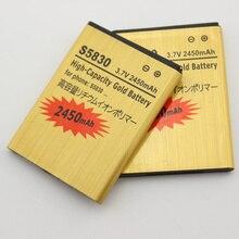2 pcs x Ace S5830 Battery EB494358VU 1350mAh For Samsung Galaxy S5830i I579 S5838 FIT S5670 GIO S5660 Bateria Free Shipping