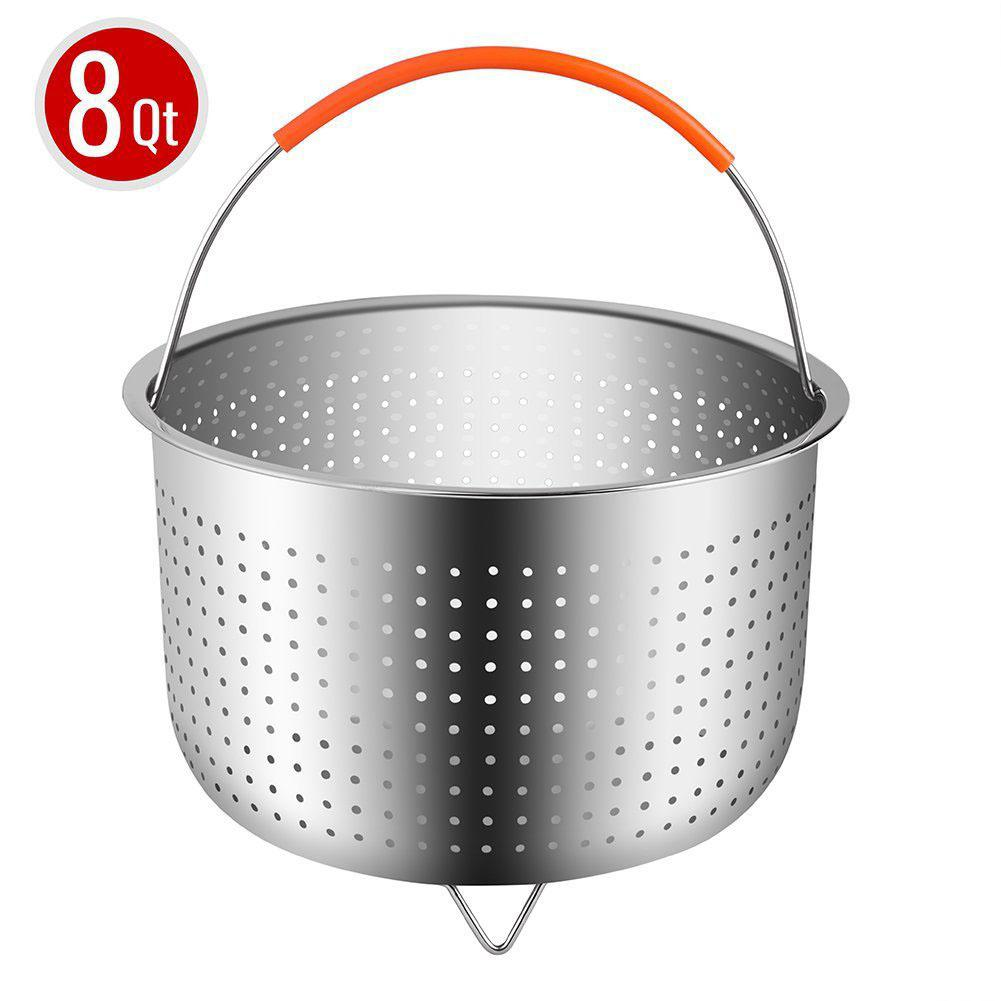 Adeeing 8 Quart Stainless Steel Steaming Basket Egg Steamer For Electric Cooker Fruit Cleaning Basket Kitchen Supplies