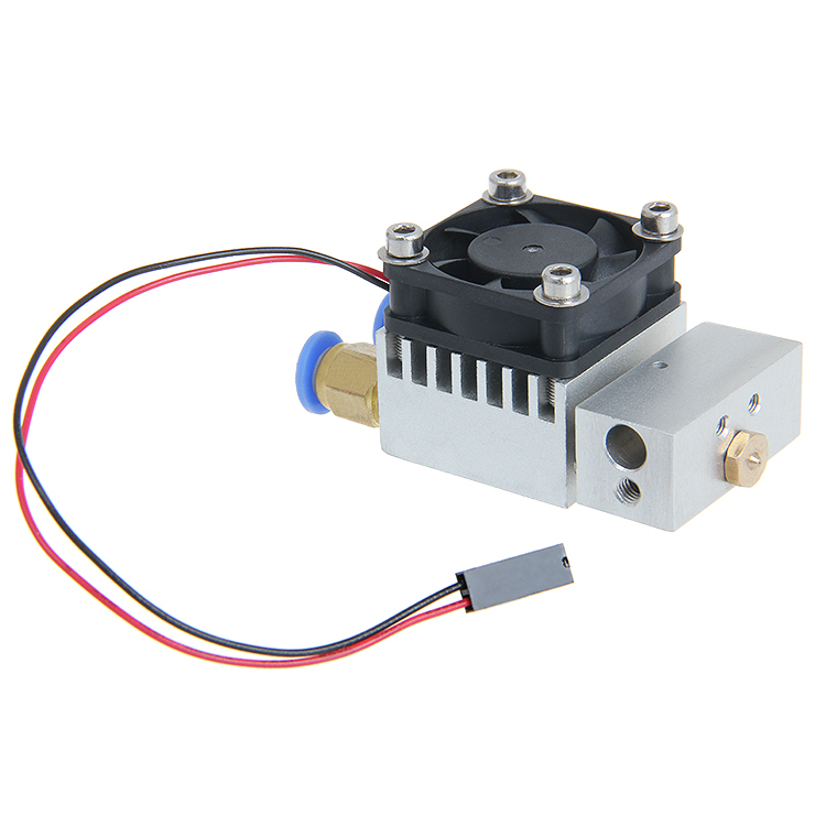 ФОТО Cyclops 2 In 1 Out Switching Hotend Multi-extrusion Color 3D Extruder 0.5mm Nozzle for 1.75mm filament