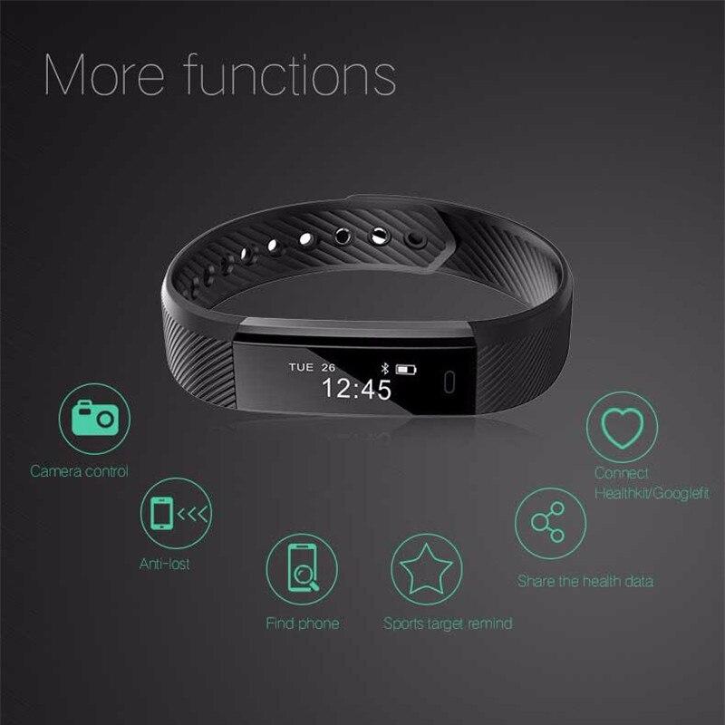 Mambaman ID115 Smart Fitness Bracelet smart band Monitor Pedometer Wristband clock Fitness Tracker VS xiaomi band