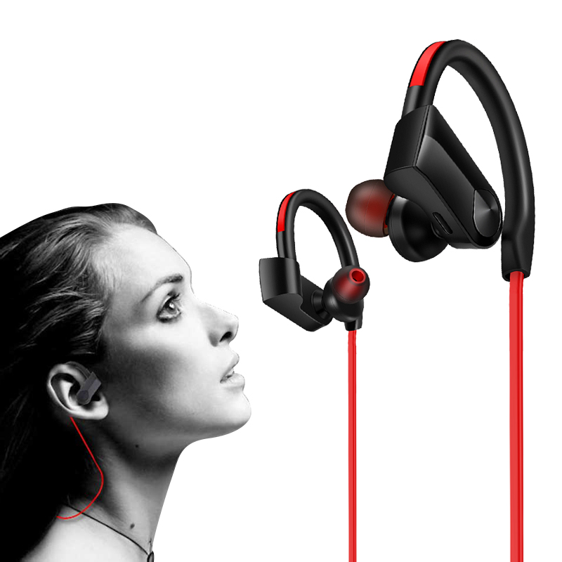 Bluetooth Earphone Waterproof Wireless Earphones Headphone Bluetooth Sports Bass Headset with Mic for All Phone xiaomi ekind head mounted wireless headphone bluetooth headset earphone with mic support tf card radio for phone iphone xiaomi pc tv