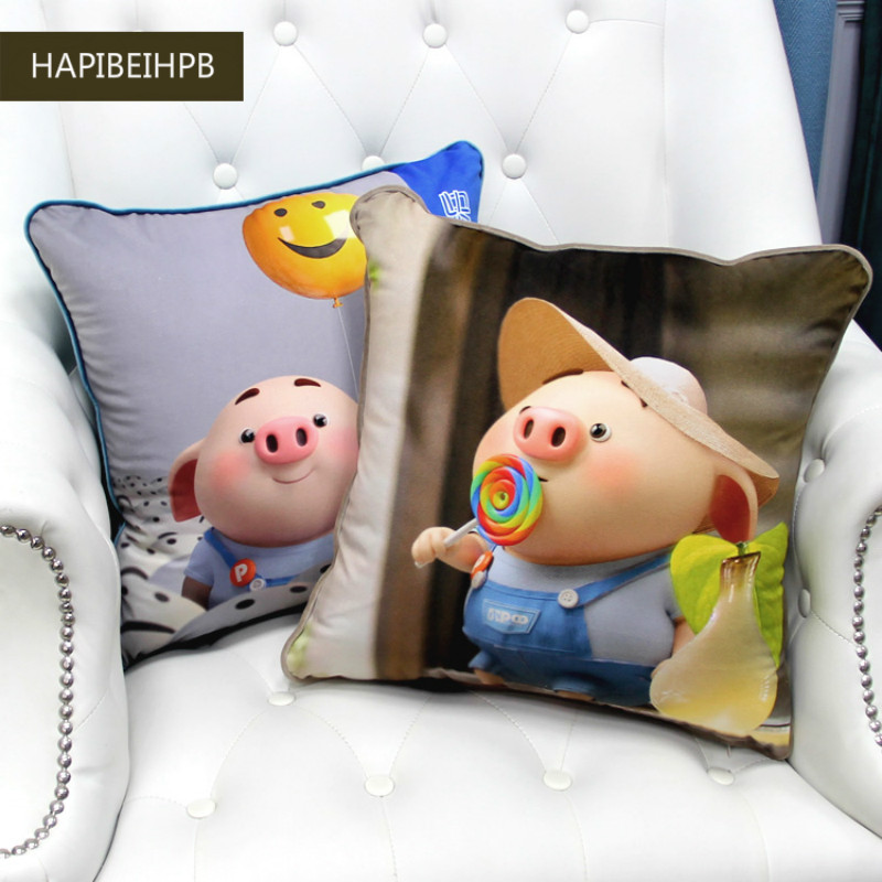 Pig pillow case mascot cutie wedding decoration cushion cover home bedroom sleeping pillow case New Year 39 s birthday present in Cushion Cover from Home amp Garden