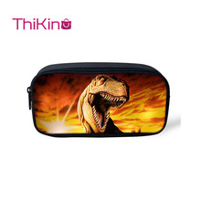 Thikin Jurassic World Pencil Bags for Teens Pen Bag boys Case Student Makeup Storage HandBags Purses Kids