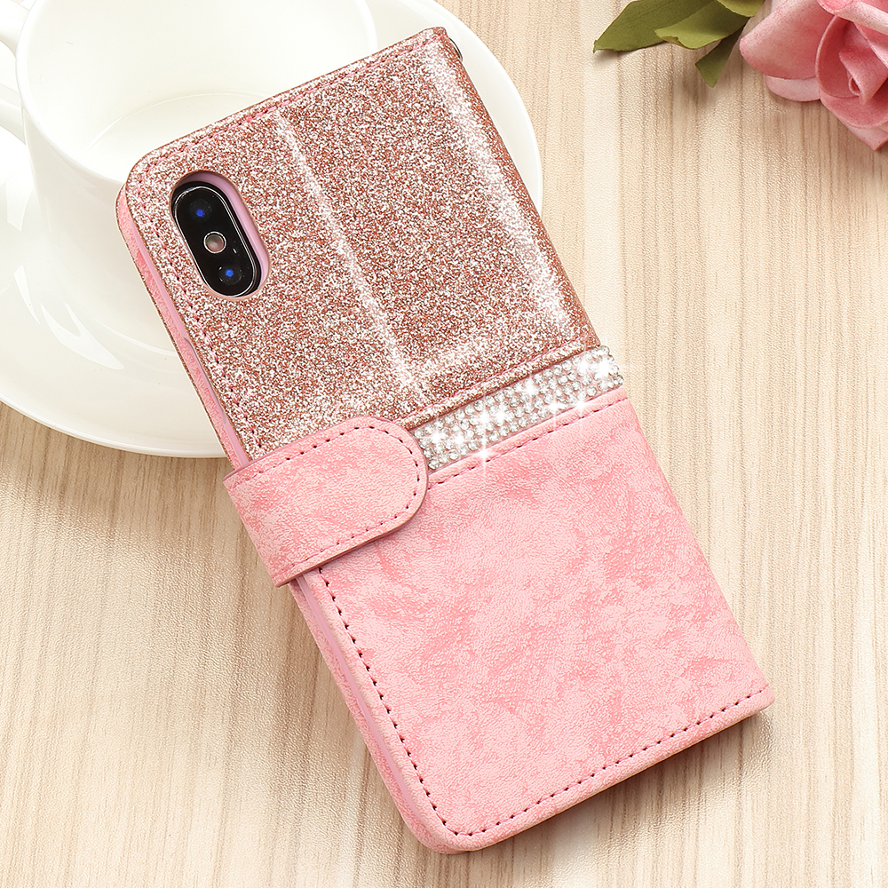 HTB1deLNX1L2gK0jSZPhq6yhvXXaQ - Bling Glitter Wallet Phone Case For iPhone X Xr Xs 11 Pro Max Leather Purse For Apple 6S 6 8 7 Plus 5 5S SE 2020 360 Girls Cover