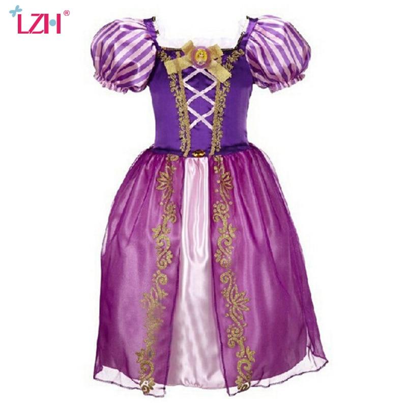 Niña Rapunzel Sofía Cenicienta vestido Swon vestido blanco niños ...