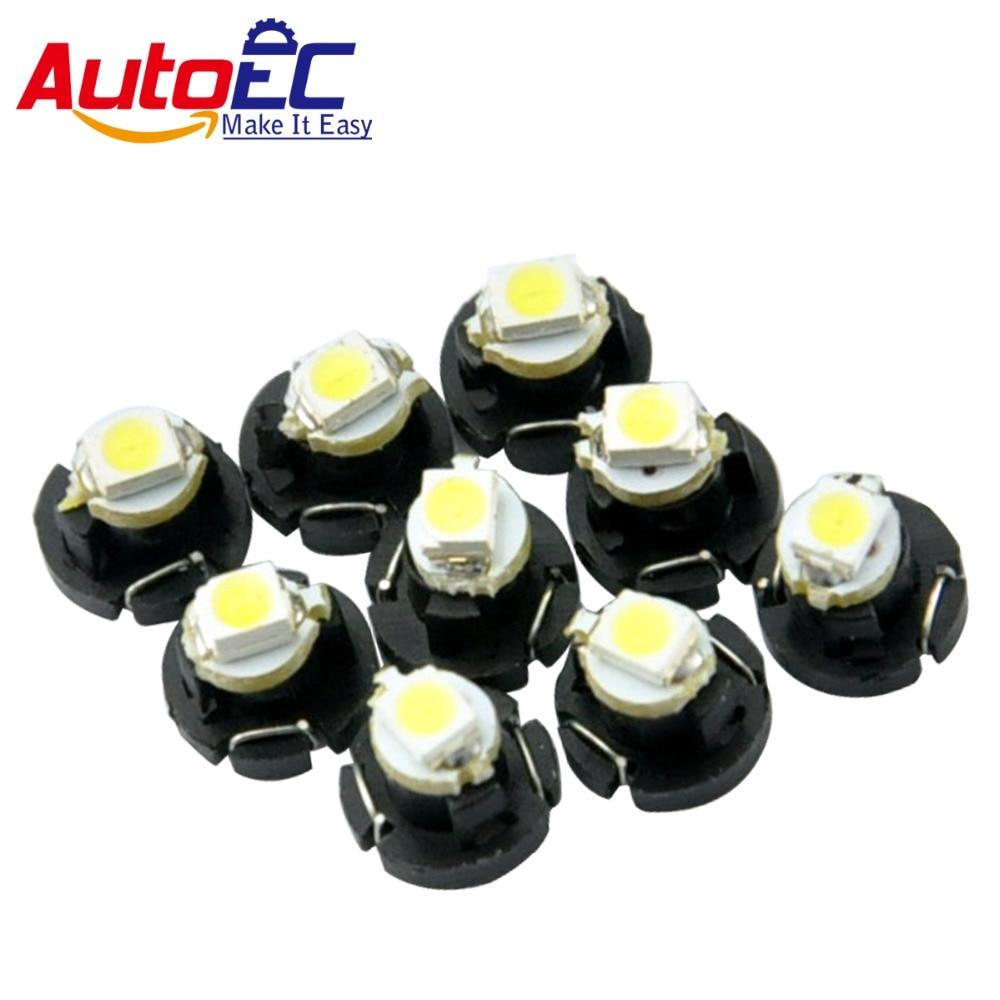 AutoEC 10X Car Instrument Light T3 T4.2 1210 3528 T4.7 5050 1 SMD LED DC12V Auto Dashboard dash Lamp Cluster Bulbs 6 Color #LA05