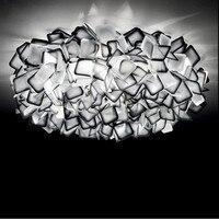 Nordic Designer Flores Levaram Luzes de Teto Lustre de Acrílico Colorido Quarto Conduziu a Lâmpada Do Teto Levou Iluminação de Teto Luminárias