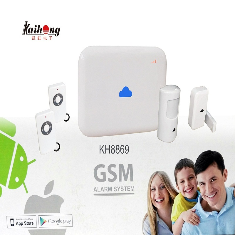 433 MHZ Android ISO App Wireless GSM Home Alarm System SIM Smart Home Burglar Security Alarm System Kit PIR infrared