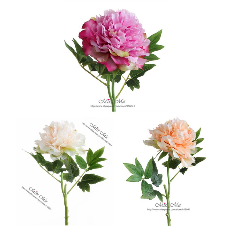 Chinese Herbaceous Peony Decorative Flower Faux Flower Wedding Flower