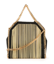 MINI 18CM golden tassel metal chain bag shaggy deer pvc flap bag