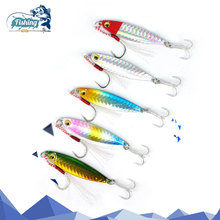 Купить с кэшбэком 1Pcs fishing lure 6cm 22g winter VIB 5 colors Lifelike hard lure bait diving wobbler lure ice sea artificial fishing tackle