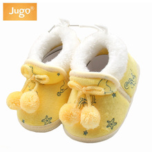 Newborn Baby Girls Shoes Sweet Princess Bowknot Winter Warm Elastic Band First Walkers Soft Soled Infant Shoes Baby Girl Shoes