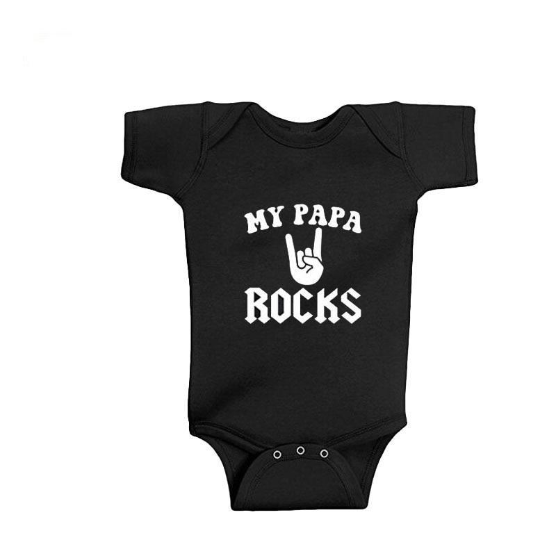 AC//DC Rock Or Bust Baby One Piece Bodysuit Metal Kids Romper Size 0-18