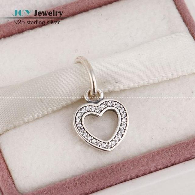 2015 New Pave Zircon Love Heart Charms Pendants For Women DIY Jewelry Making 925 Sterling Silver Heart Charm Wholesale SH0577